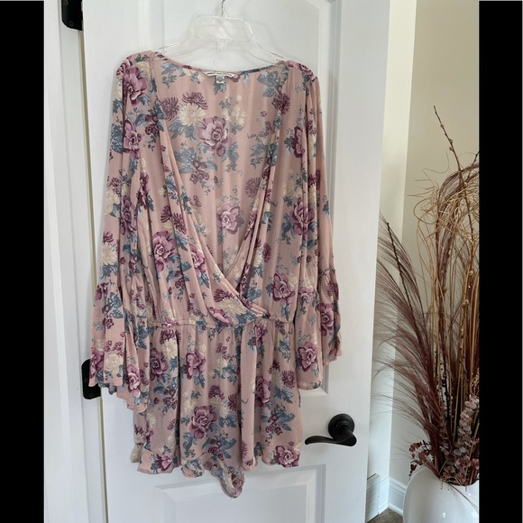 American Eagle Outfitters Jumper Romper Floral M